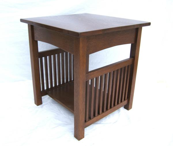 Spindle side end table with shelf woodruff custom furniture