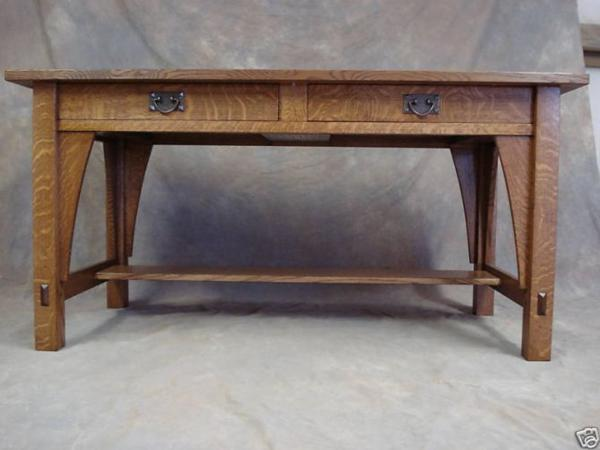 LIBRARY TABLE #615 MISSION OAK ARTS CRAFTS DESK