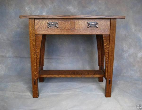 REPRODUCTION STICKLEY LIBRARY TABLE 615 MISSION OAK