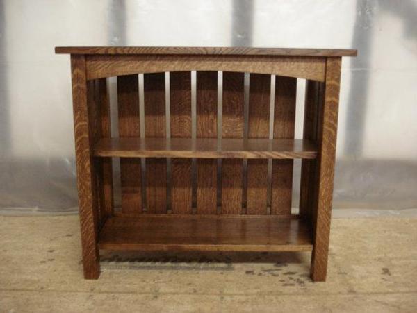Custom Mission Oak Furniture Vermont - Quartersawn Bookcase - Custom Mission Oak Furniture Vermont - Quartersawn Bookcase