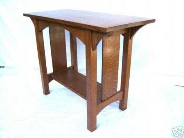 Quartersawn Oak Arts Crafts Sofa Table Mission Style